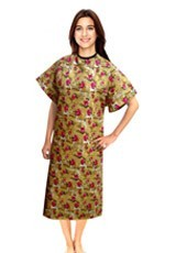 100% POLYESTER PRINTED PATIENT GOWN