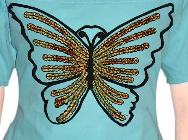 Front Butterfly Design