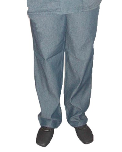 DENIM SCRUBS NORMAL PANT WITH ELASTICATED TWILL DRAWSTRING
