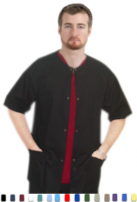 FRONT OPEN 3 POCKET UNISEX SOLID TOP WITH SNAP BUTTON