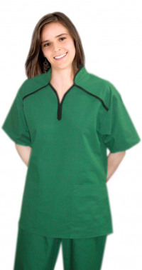 M Style Collar Ladies Scrub Top