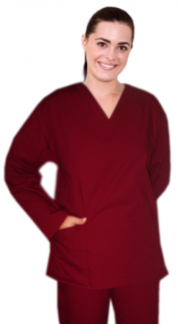 Solid Top v neck 2 pocket full sleeve