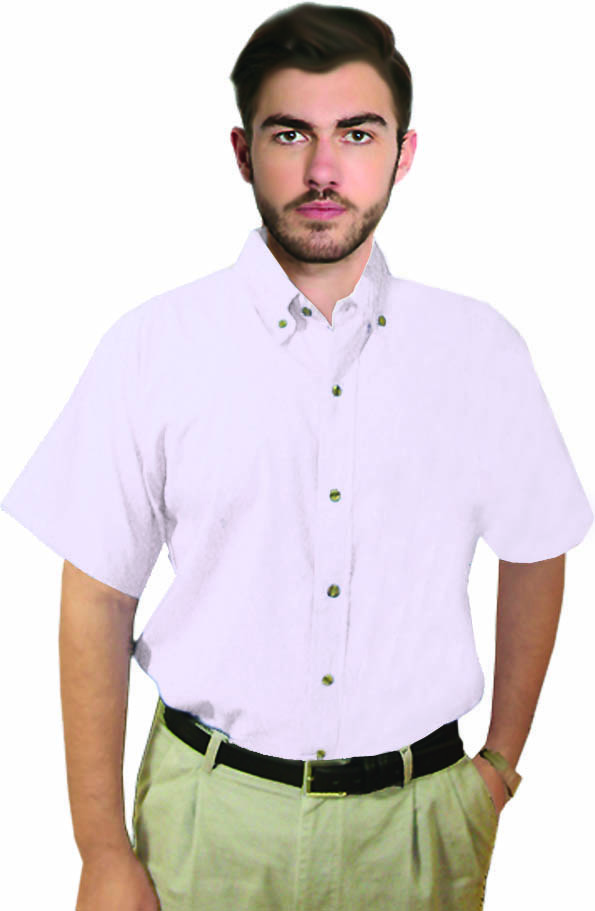 UNISEX TWILL HALF SLEEVE SHIRT WHITE COLOR