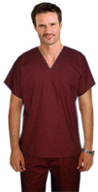 UNISEX REVERSIBLE TOP  V NECK 1 POCKET
