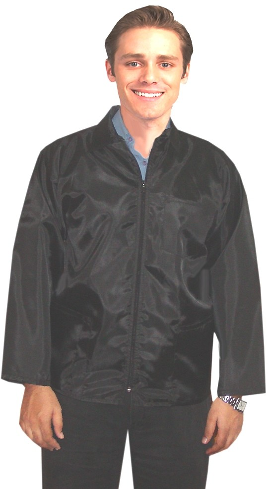 BARBER JACKET FULL SLEEVE WITH ZIPPER (NYLON FABRIC)