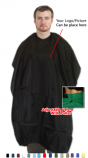 BARBER CAPE IN MICROFIBER FABRIC