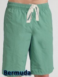 POPLIN FABRIC BERMUDA WITH 2 SIDE POCKETS 1 BACK POCKET (Inseam is 11 Inches)