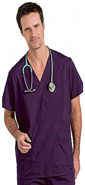 School/college scrubs Top v neck 2 pocket half sleeve unisex