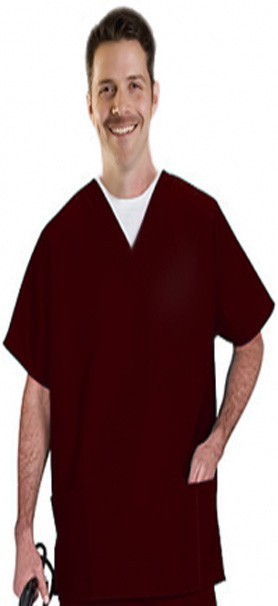 Microfiber Top v neck 3 pocket half sleeve unisex with 1 pencil pocket