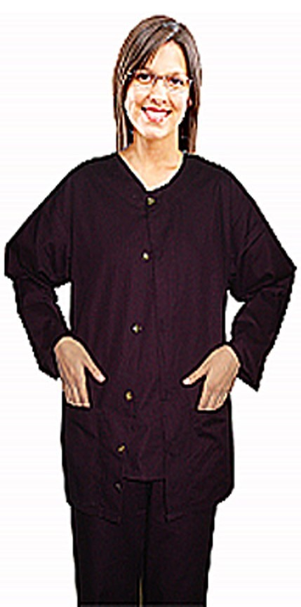 Scrub Jacket 2 pocket solid unisex full sleeve without rib