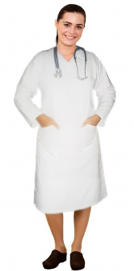 V neck full sleeve nursing dress with 2 front pockets knee length