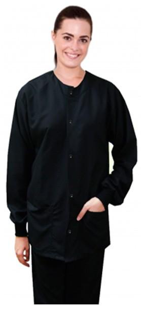 Microfiber jacket 2 pocket full sleeve solid unisex with rib
