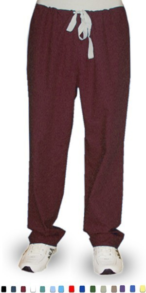 Microfiber fabric qld Pant 1 back pocket reversible no elastic cord only unisex