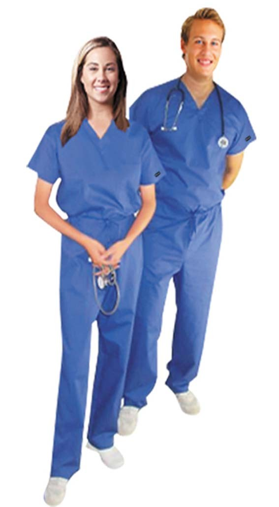 Scrub set $9.50 2 pocket normal unisex solid half sleeve (top 1 pocket with bottom 1 pocket)
