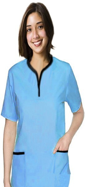 Set 5 pocket ladies half sleeve tunic style solid (top 2 pocket with bottom 3 pocket)