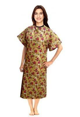 Patient gown half sleeve  printed back open, Paris Print, Sizes XS-9X