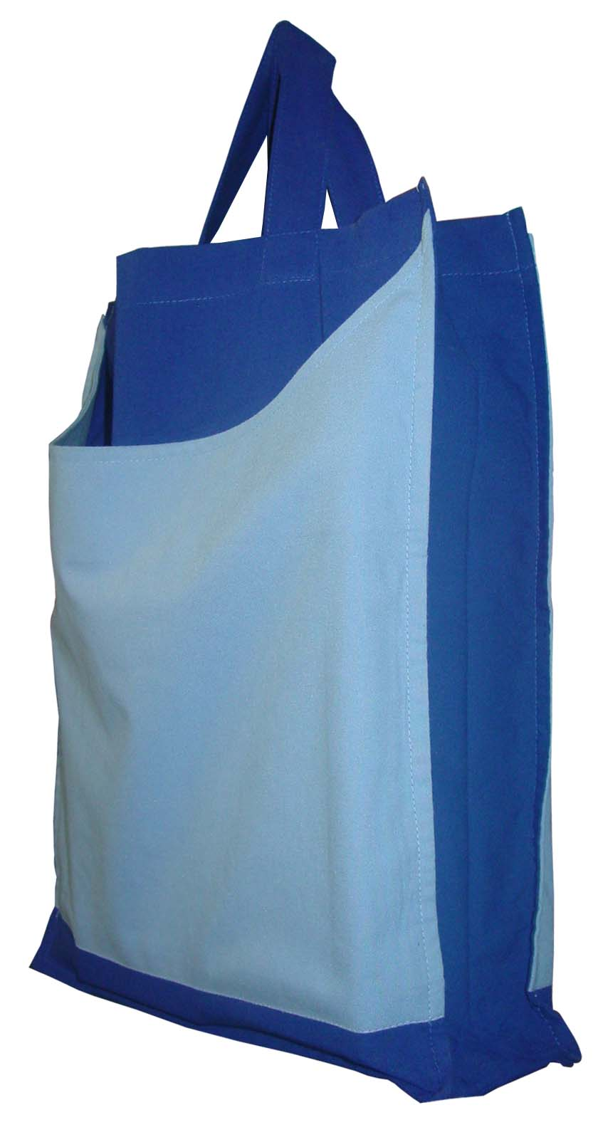 Tote bags in poplin fabric with contrast