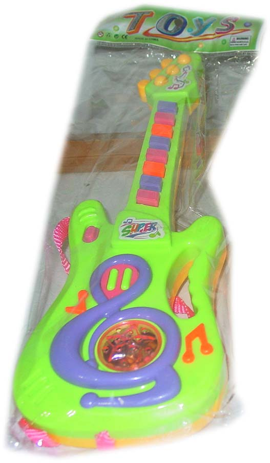 Children's playing guitar