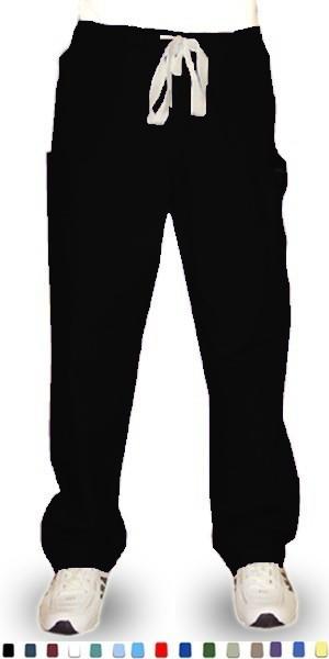 Microfiber Pant 6 pocket 2 side pocket 2 cargo pocket with cell phone pocket 1 back pocket half elastic waistband unisex