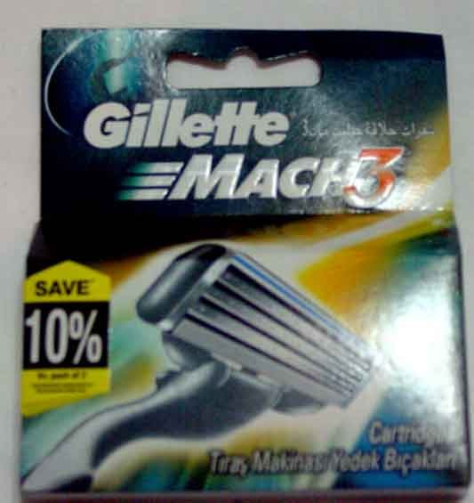 Gillette mach3 turbo 4 cartridges