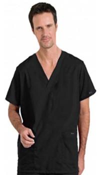 Scrub set 4 pocket solid unisex half sleeves (2 pkt top, 2 pkt pant with elastic drawstring)