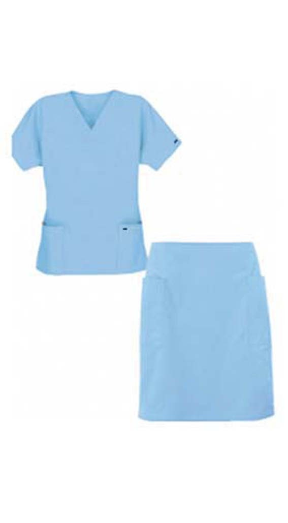 Scrub skirt set 4 pocket ladies half sleeves (2 pocket top 2 pocket skirt)
