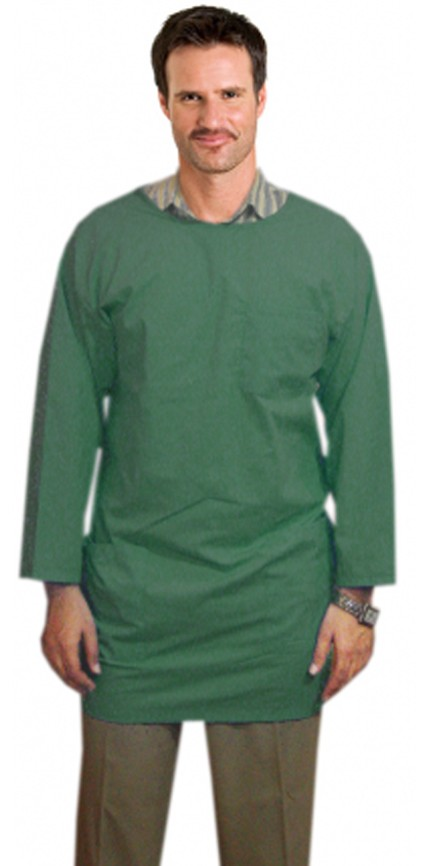 Microfiber labcoat unisex full sleeve solid  back snap button  and tieable style 3 pocket (100% polyester)
