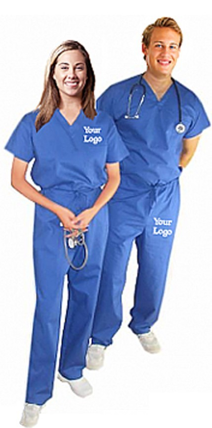 SCHOOL/COLLEGE LOGO ON TOP AND PANT UNIFORM SET NORMAL UNISEX HALF SLEEVE 2 POCKET SOLID ( 1 PKT TOP + 1 PKT PANT)