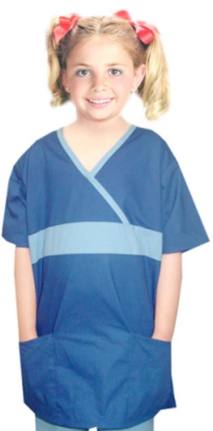 Children top 2 pocket half sleeve fashion contrast style