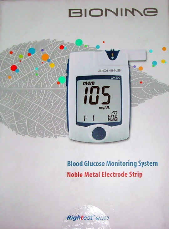 Bionime blood glucose monitoring system