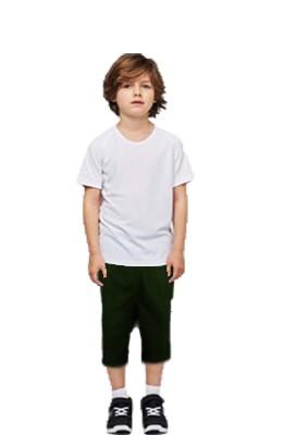 Children's / kids Capri 2 side pockets with 1 back pocket in Poplin Fabric