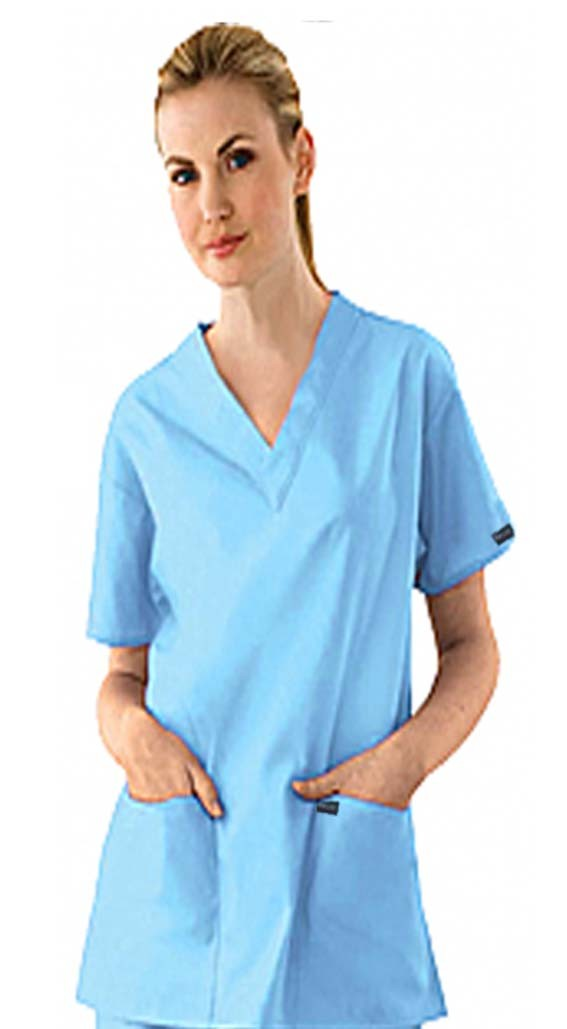 Scrub set 7 pocket v neck ladies half sleeve(2 pocket top 5 pocket pant)