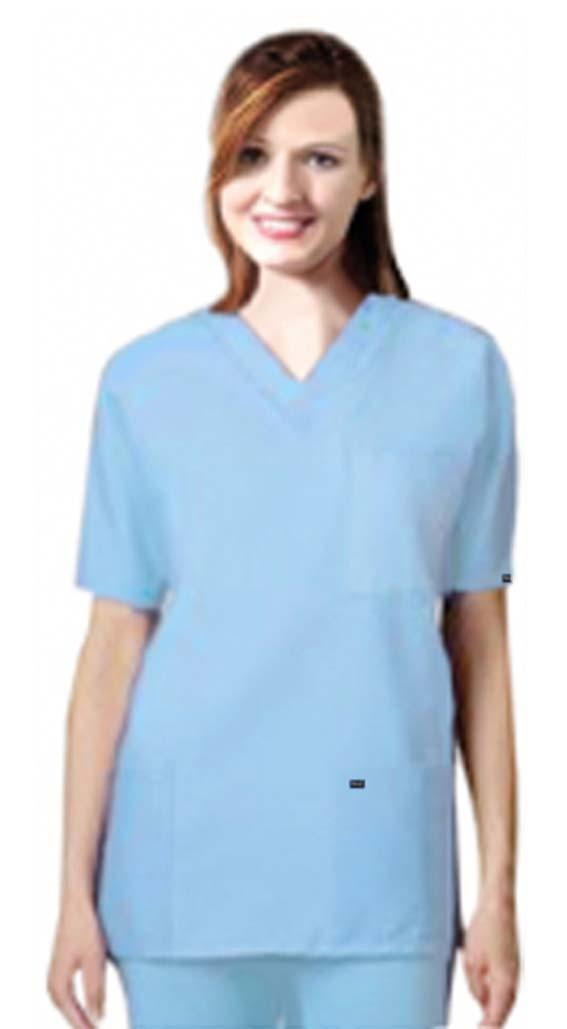 Scrub set 9 pocket unisex solid half sleeve (3 pocket top 6 pocket pant)