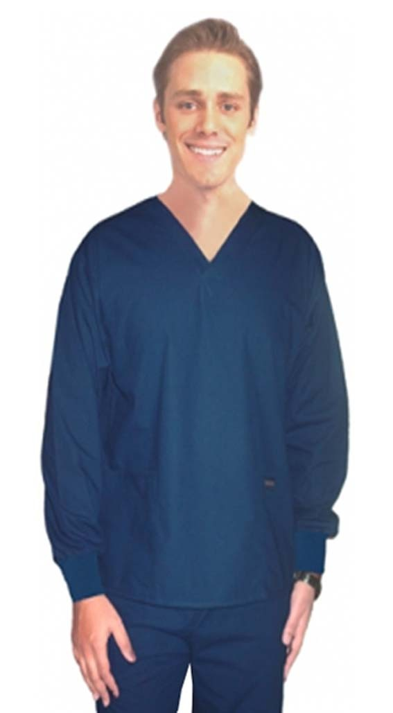 Scrub set 4 pocket solid full sleeve unisex with rib (2 pocket top and 2 pocket pant)