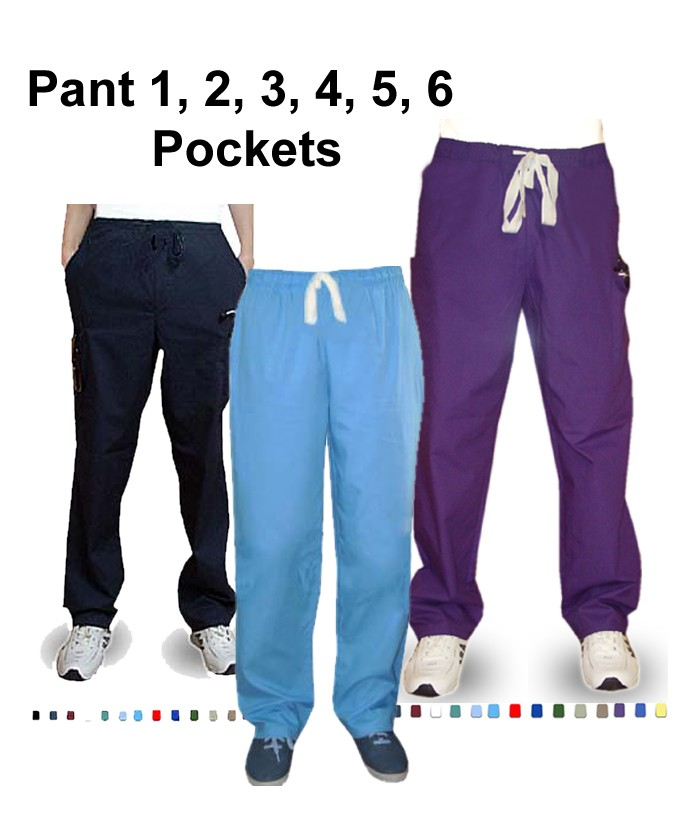 Clearance scrub pant unisex any style any color 1, 2, 3, 4, 5, 6 pockets