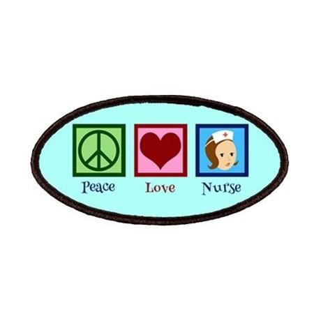 Pretty nurse patch peace love nurse