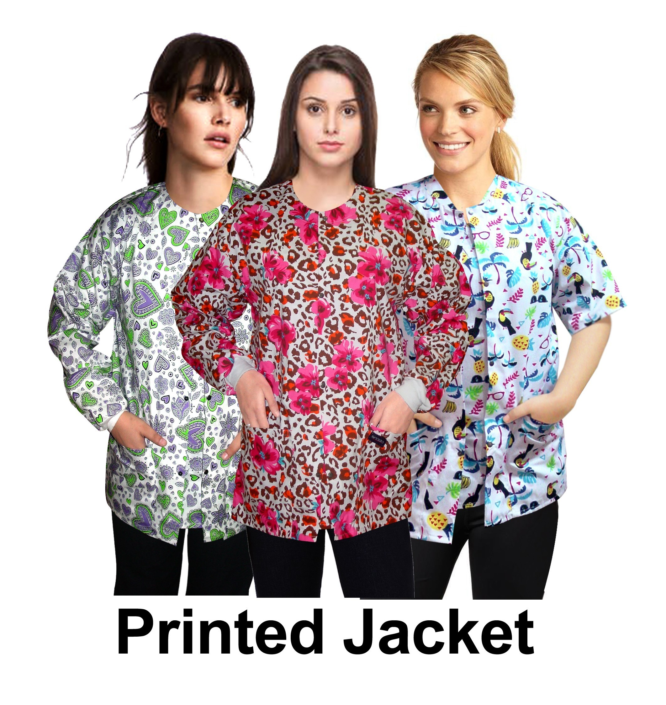 Clearance jacket 2 pocket printed unisex full or half sleeve any print any style