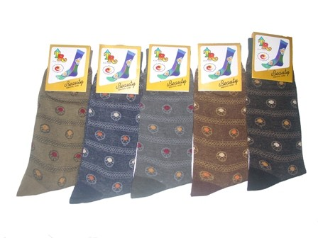 Unisex socks in multi color  1 pair