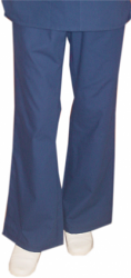 Qld pant 2 side pockets flare leg waistband with drawstring and elastic both ladies
