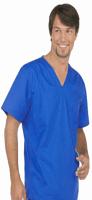 Top v neck without pocket solid half sleeve unisex