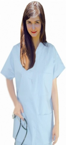 School/college Scrubs Top v neck 3 pocket half sleeve unisex