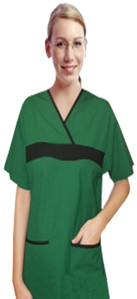 Microfiber set 5 pocket ladies half sleeve fashion contrast with matching bottom (top 2 pkt with bottom 3 pkt)