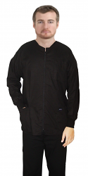Scrub Jacket 2 pocket solid unisex full sleeve with rib and zip