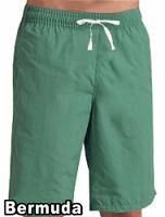 Poplin fabric bermuda no pocket elasticated twill drawstring (white) inseam is 11 inches