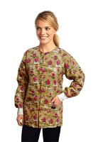 Jacket 2 pocket printed unisex full sleeve in paris print  with rib