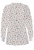 Jacket 2 pocket printed unisex full sleeve in Red and Black Flower Print with rib