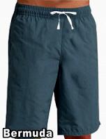 Bermuda no pocket elasticated twill drawstring (white) (inseam is 11 inches) In Dark Denim Shade 100% Cotton