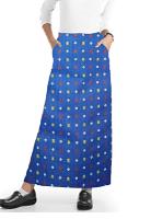 Cargo pockets ladies skirt A Line Full Elastic waistband ladies skirt in Shapes Print