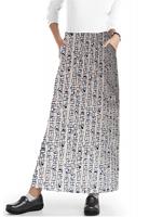 Cargo pockets ladies skirt A Line Full Elastic waistband ladies skirt in Geometric Print