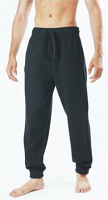 Jogger Scrub Pant Unisex 2 Side and 1 Back Pocket with Drawstring in Black Color / Sizes S-M-L-XL-2X